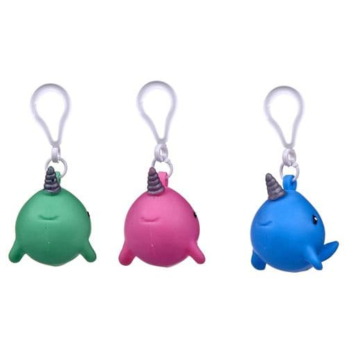 NARWHAL SQUEEZY BAGCLIP 3 ASST (Individual Price)