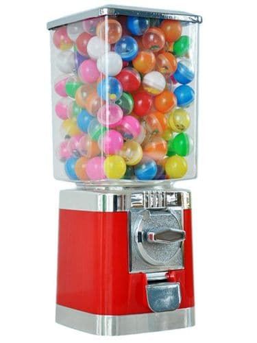 VENDING MACHINE - Red Retro Sweet / Toy Vending Machine (New)