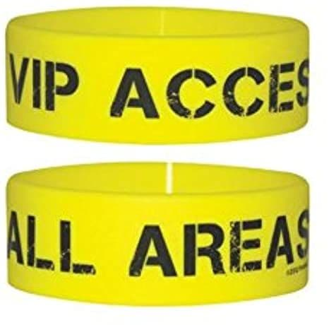 VIP Access All Areas silicone wristband