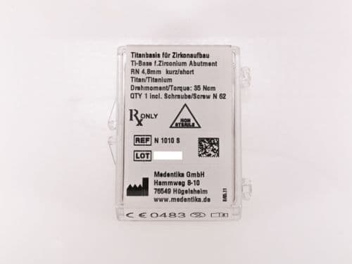 Medentika Straumann Compatible SynOcta (2nd Gen) Ti Base  RN  3.5mm REF:  N1010