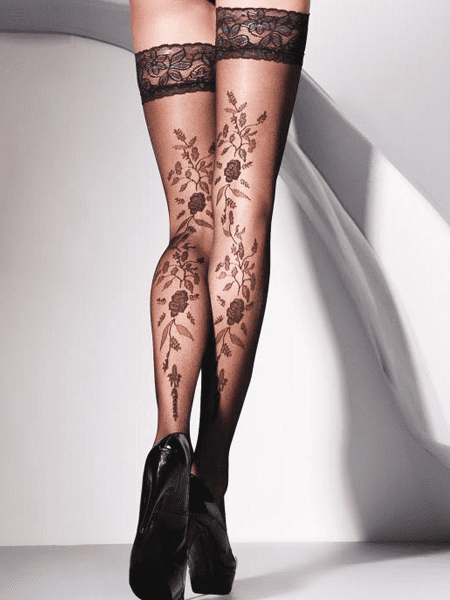 Hold Up Stockings Vera Floral