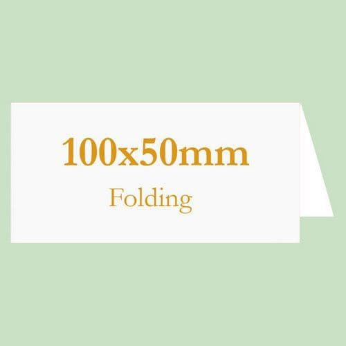 100x50mm Blank Inkjet TABLE NAME Cards