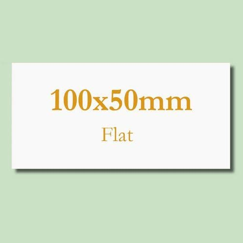 100x50mm Flat Blank Inkjet TABLE NAME Cards