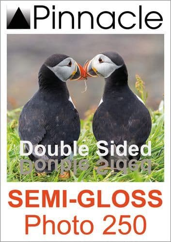 Pinnacle Double Sided Semi-gloss Photo Paper 250gsm