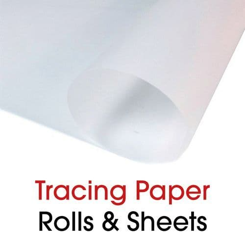 A1, A2 & A3 Tracing Paper sheets and 841mm Rolls