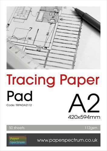 A2 Tracing Paper Pad Heavyweight 112gsm