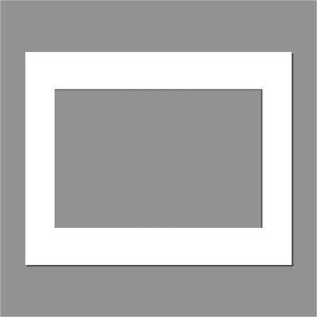 A3 3:2 Ratio Ice White Pre-Cut Picture Window Mount 1400mic