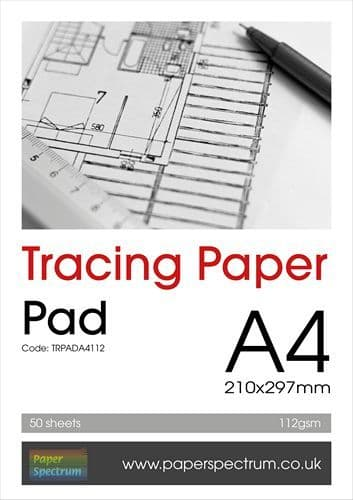 A4 Tracing Paper Pad Heavyweight 112gsm