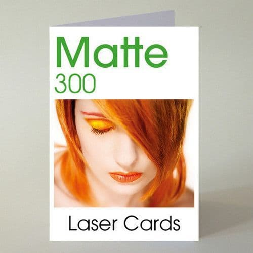 A5 (A4 folding to A5) Smooth MATTE 300 Blank Laser Greeting Card 300gsm