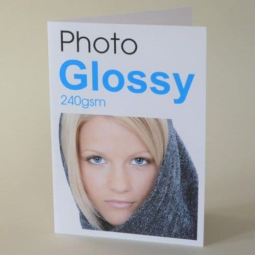 A5 folding to A6 Blank Photo GLOSSY 240gsm Inkjet Greeting Card