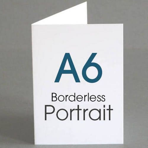 A6 Borderless Greeting Cards (from A4)