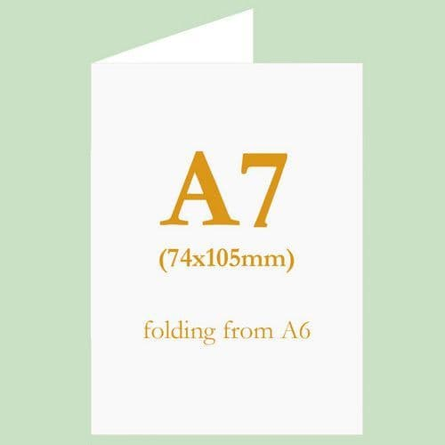 A7 (74x105mm) Blank Inkjet TABLE NAME Cards