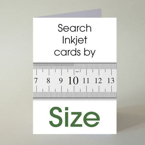 Blank Inkjet Greeting Cards by Size