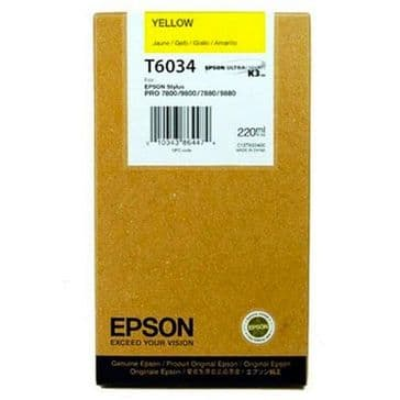 T6034 Genuine Original Epson 7800 Yellow ink cartridge 220ml