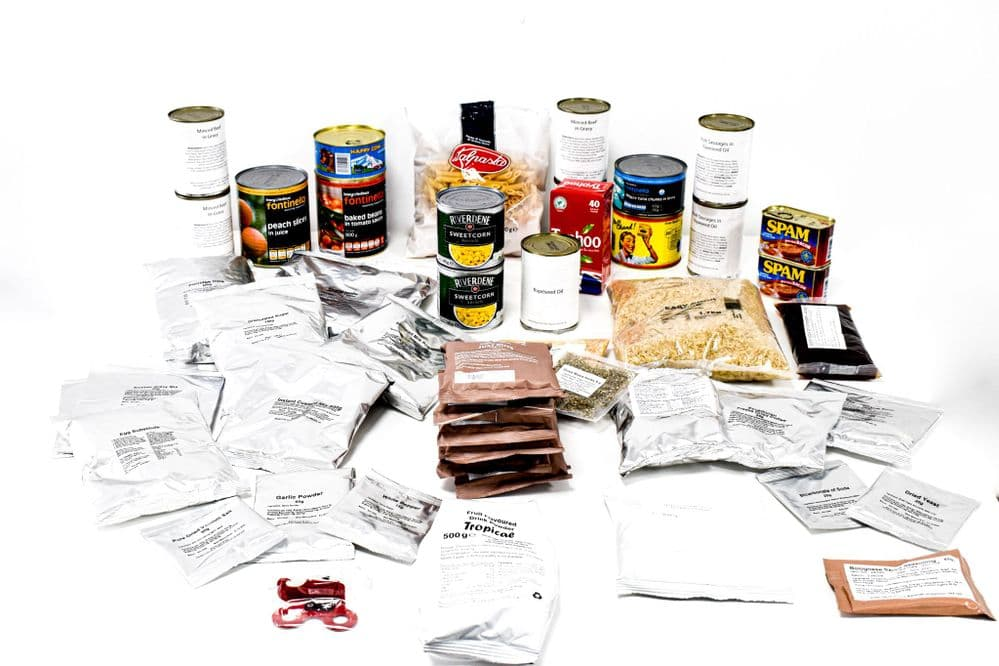 British Army Military Style 10 Man Ration MRE Pack