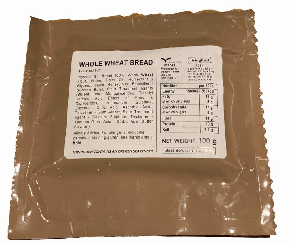 British Army Ration Meal Pouch - Whole Wheat Bread