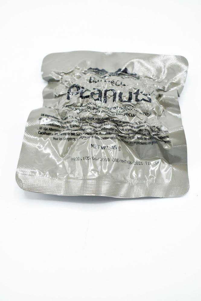 British Army Ration Pack Meal Pouch - Barbecue Peanuts