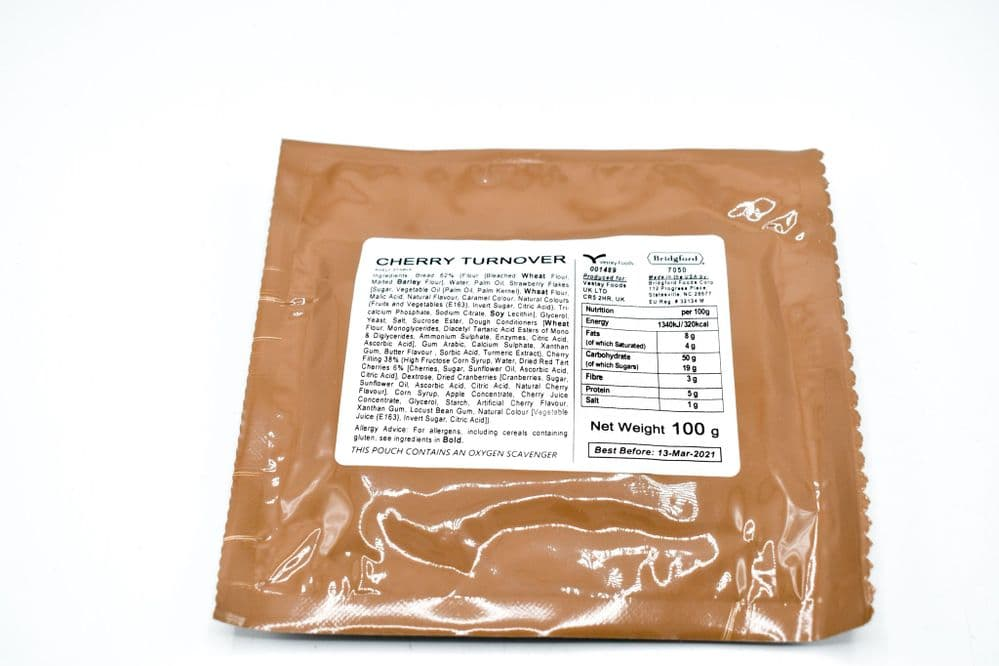 British Army Ration Pack Meal Pouch - Cherry Turnover