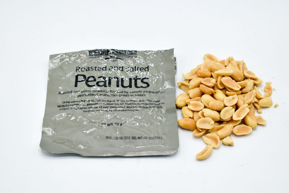British Army Ration Pack Meal Pouch - Roasted and Salted Peanuts