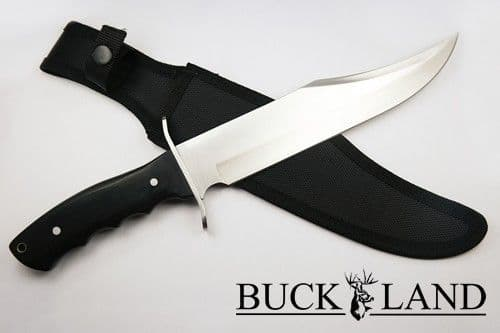 Buck Land Large Pakkawood Bowie Knife