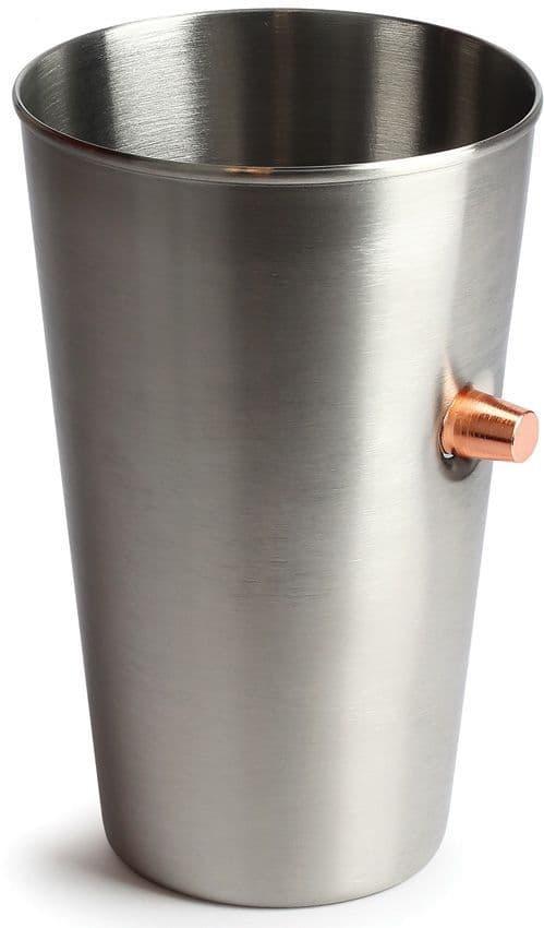 Caliber Gourmet Stainless Steel Bullet Pint Glass