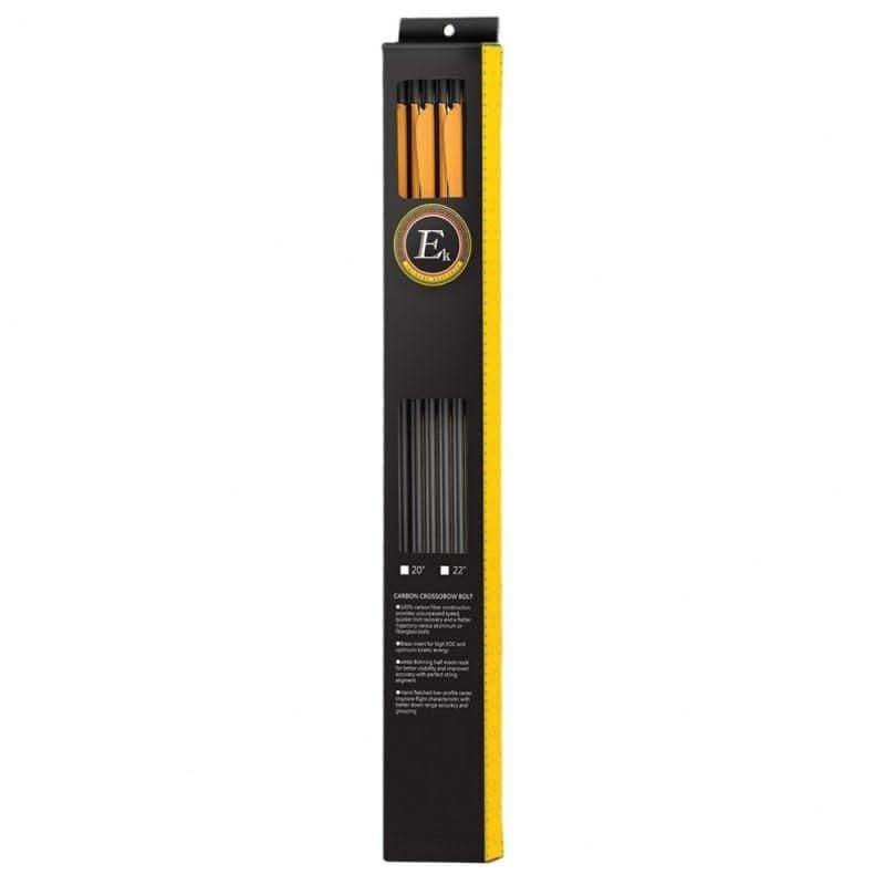 """EK Archery 22"""" Carbon Crossbow Bolts - 6pk"""