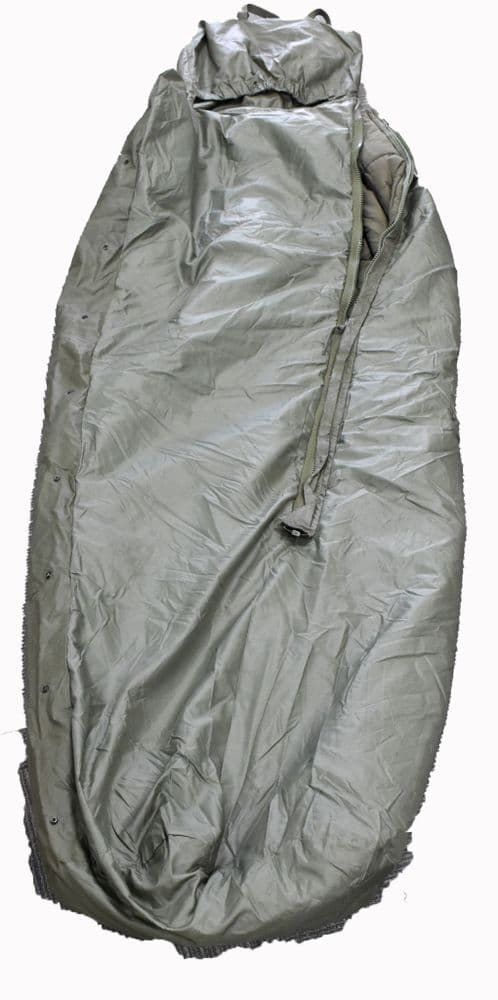 French Military Cold Weather Sleeping Bag - Built In Ground Sheet