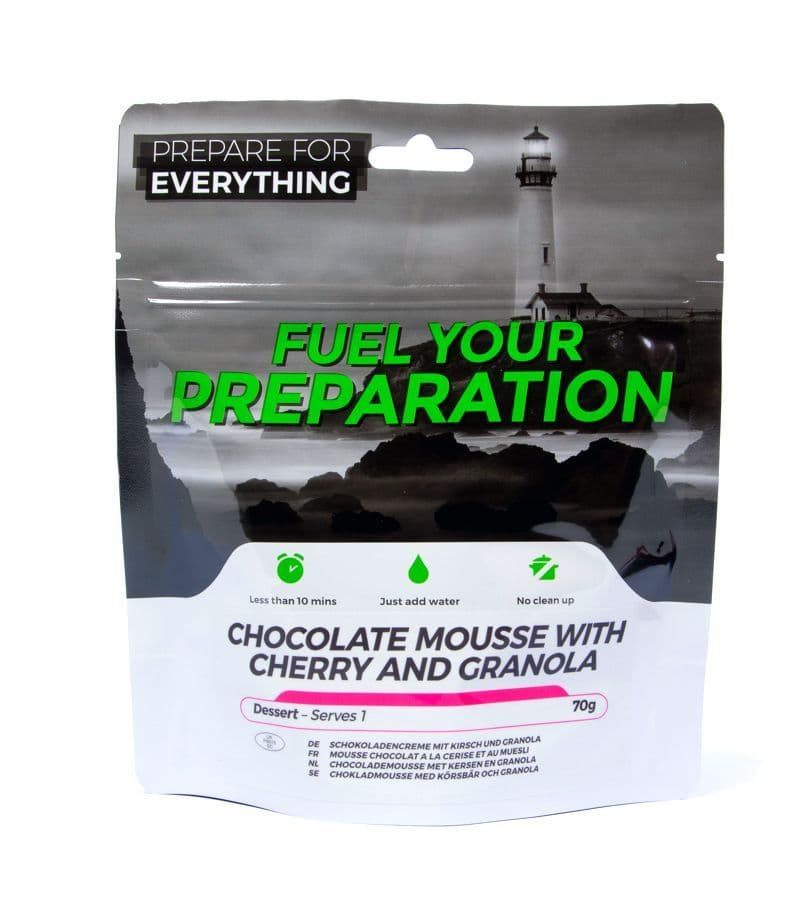 Fuel Your Preparation Freeze Dried Food Ration Meal Pouch - Chocolate Mousse With Granola Pouch