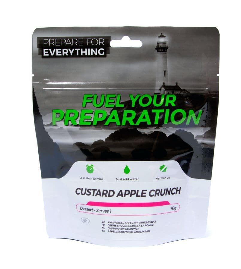 Fuel Your Preparation Freeze Dried Food Ration Meal Pouch - Custard With Apple Crunch