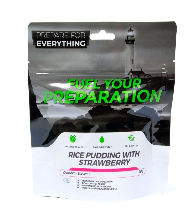 Fuel Your Preparation Freeze Dried Food Ration Meal Pouch - Rice Pudding With Strawberry Pouch