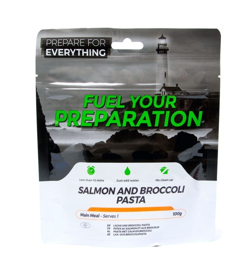 Fuel Your Preparation Freeze Dried Food Ration Meal Pouch - Salmon & Broccoli Pasta