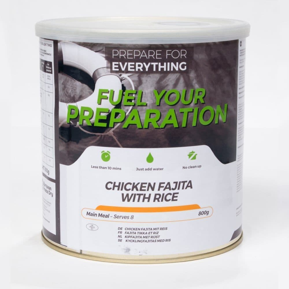 Fuel Your Preparation Freeze Dried Food Ration Meal Tin - Chicken Fajita With Rice