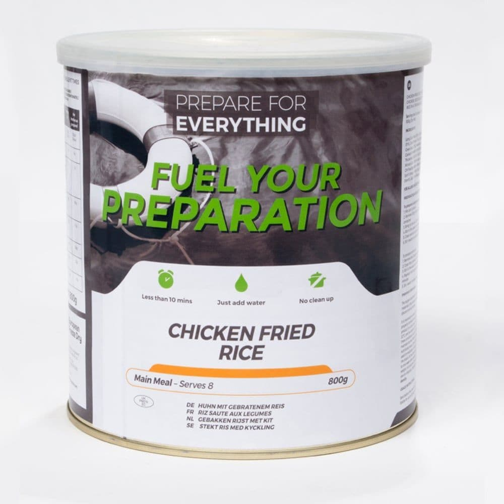 Fuel Your Preparation Freeze Dried Food Ration Meal Tin - Chicken Fried Rice