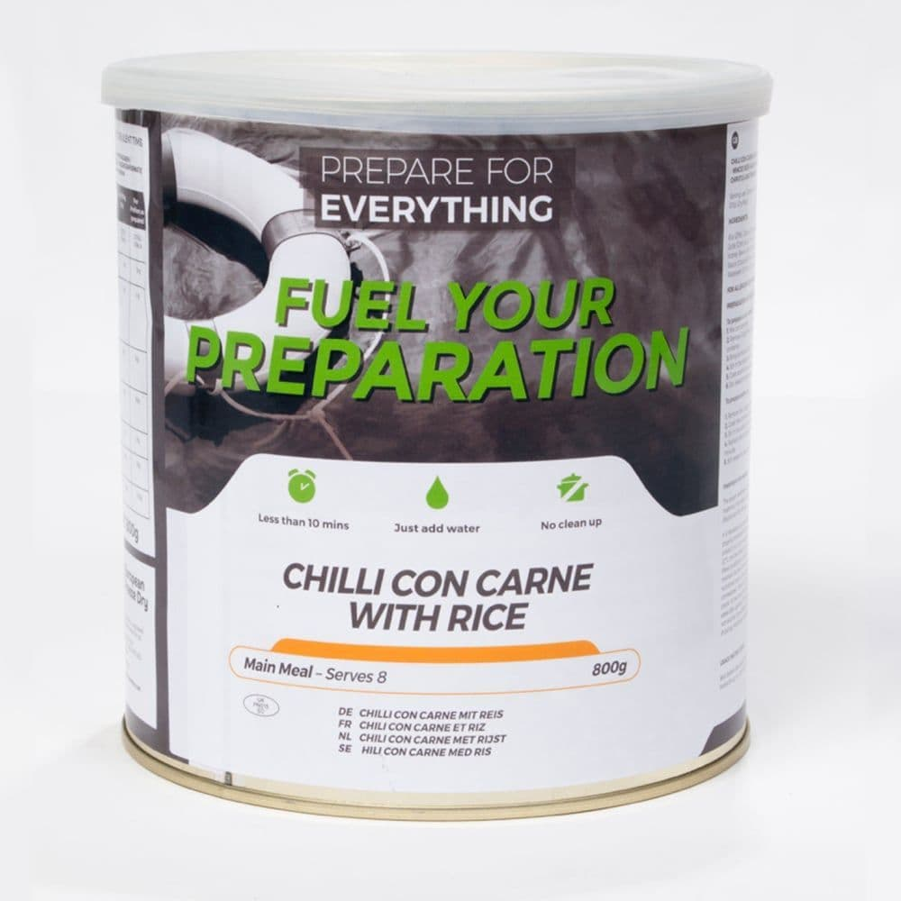Fuel Your Preparation Freeze Dried Food Ration Meal Tin - Chilli Con Carne With Rice