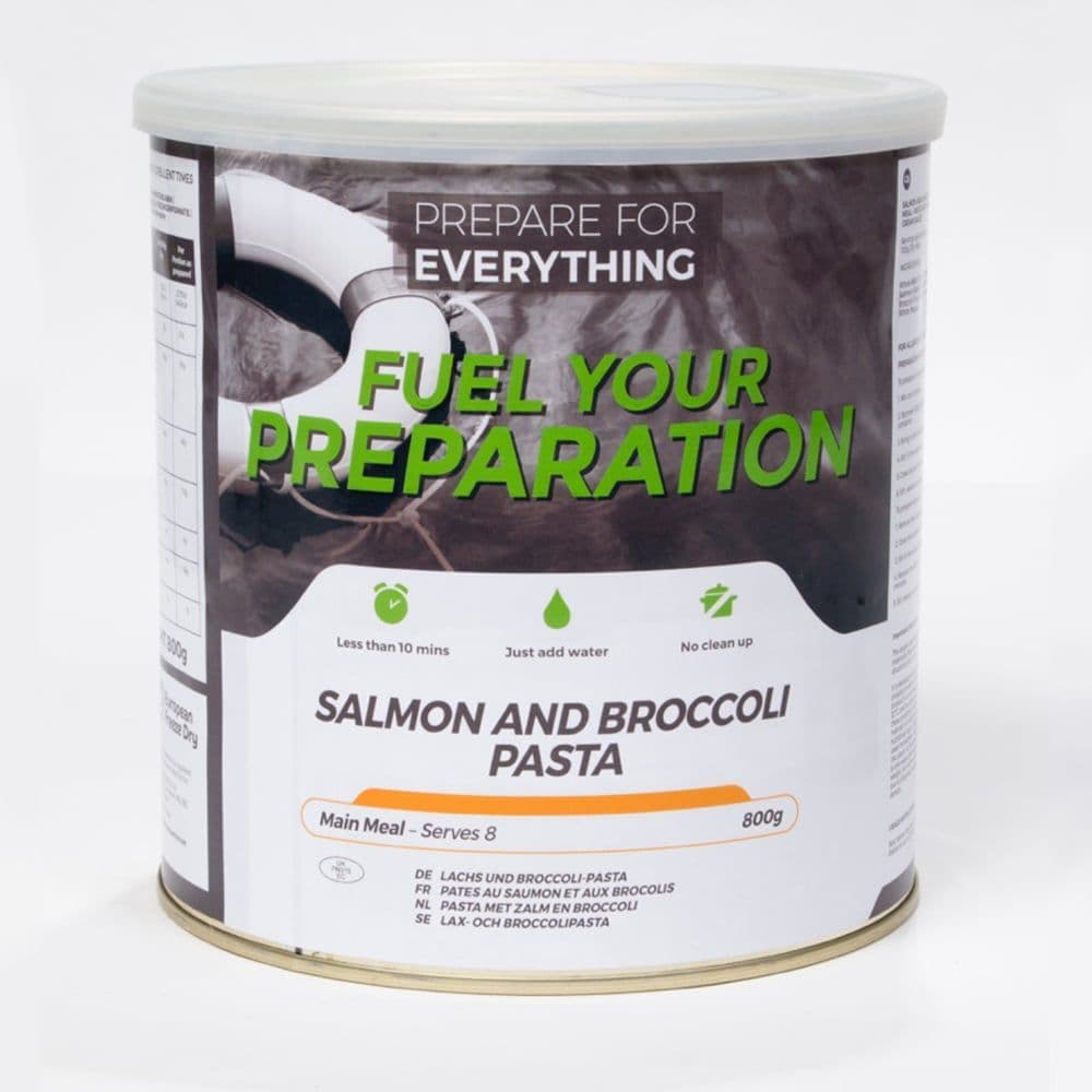 Fuel Your Preparation Freeze Dried Food Ration Meal Tin - Salmon And Broccoli Pasta