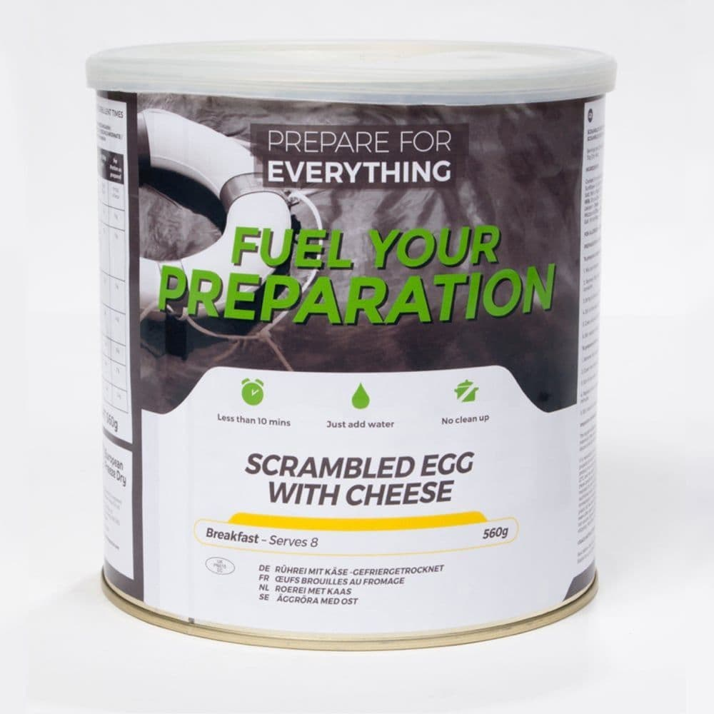 Fuel Your Preparation Freeze Dried Food Ration Meal Tin - Scrambled Egg With Cheese
