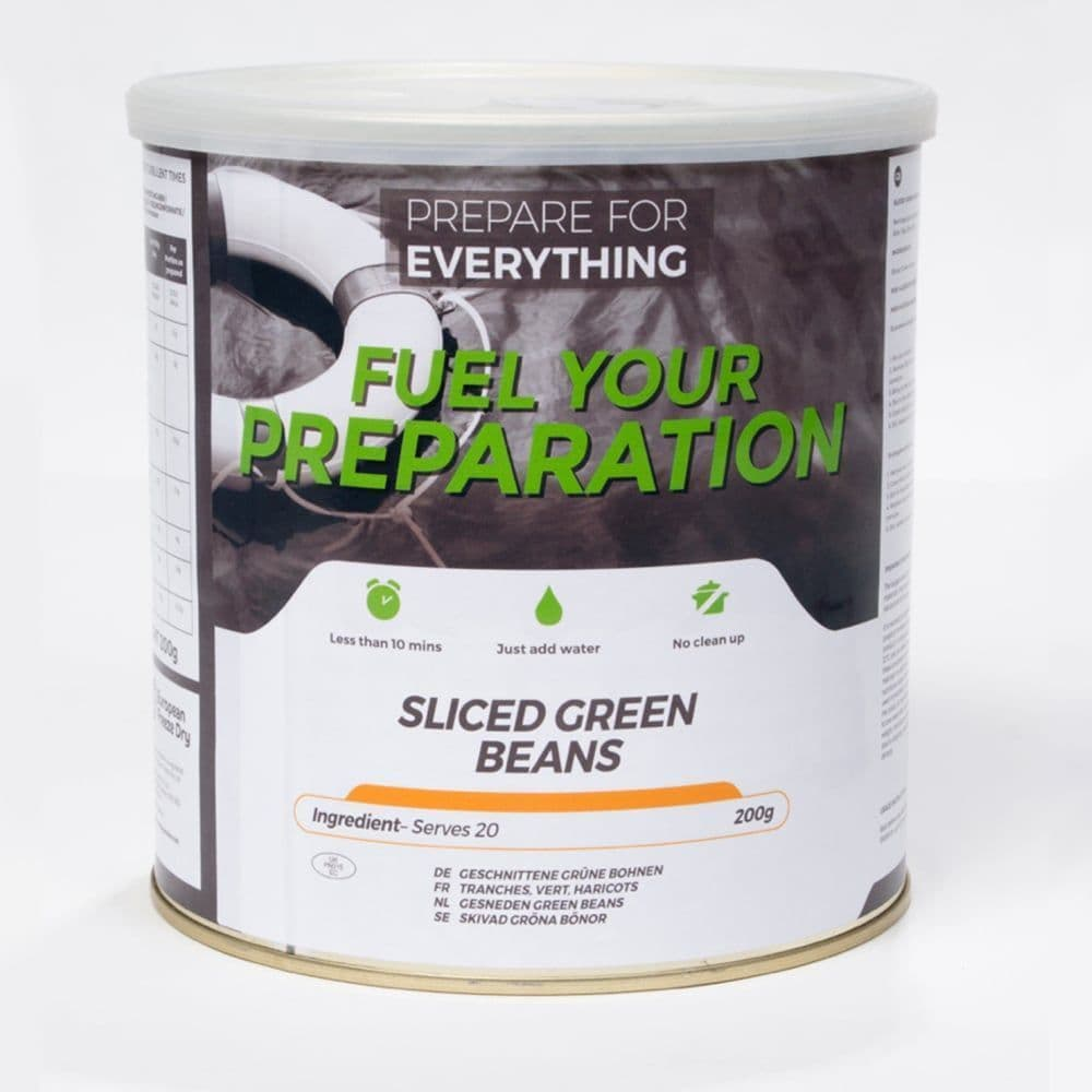 Fuel Your Preparation Freeze Dried Food Ration Meal Tin - Sliced Green Beans