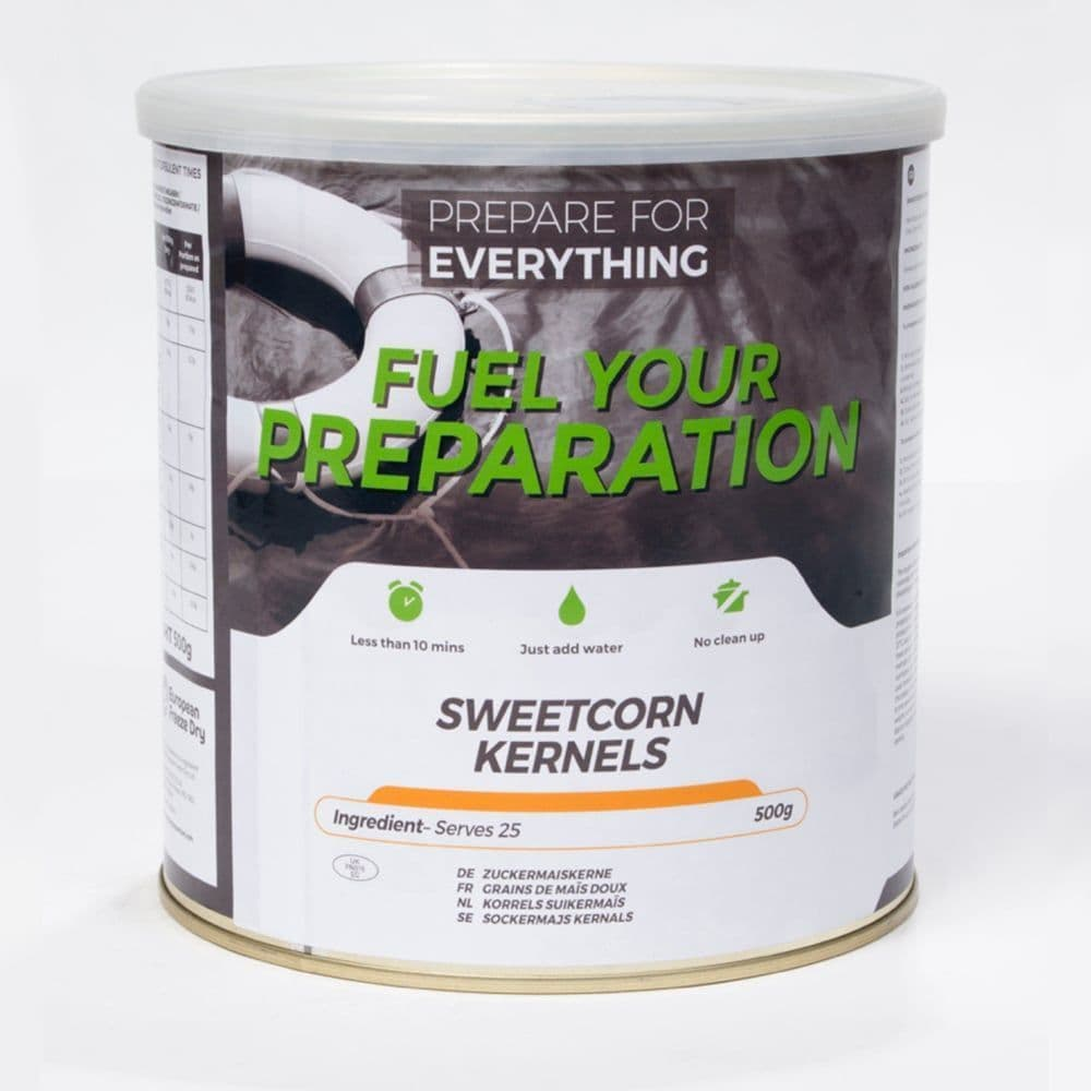 Fuel Your Preparation Freeze Dried Food Ration Meal Tin - Sweetcorn
