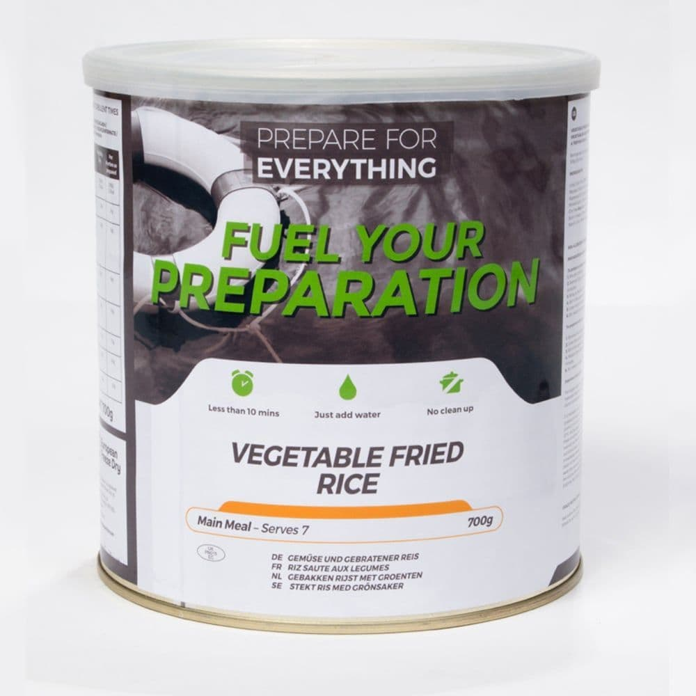 Fuel Your Preparation Freeze Dried Food Ration Meal Tin - Vegetable Fried Rice