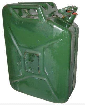 Genuine German Military 20l Jerry Can - Used Diesel