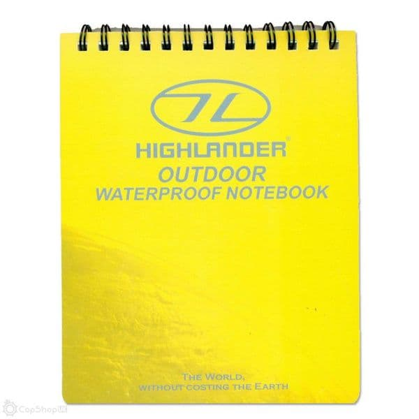 Highlander Yellow Waterproof Notepad