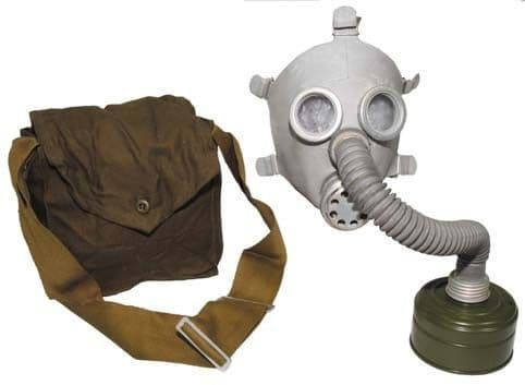 Kids soviet russian gas mask & bag