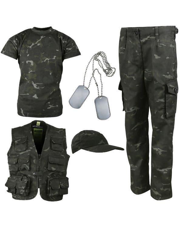 Kombat UK Kids Explorer Army Kit - BTP Black