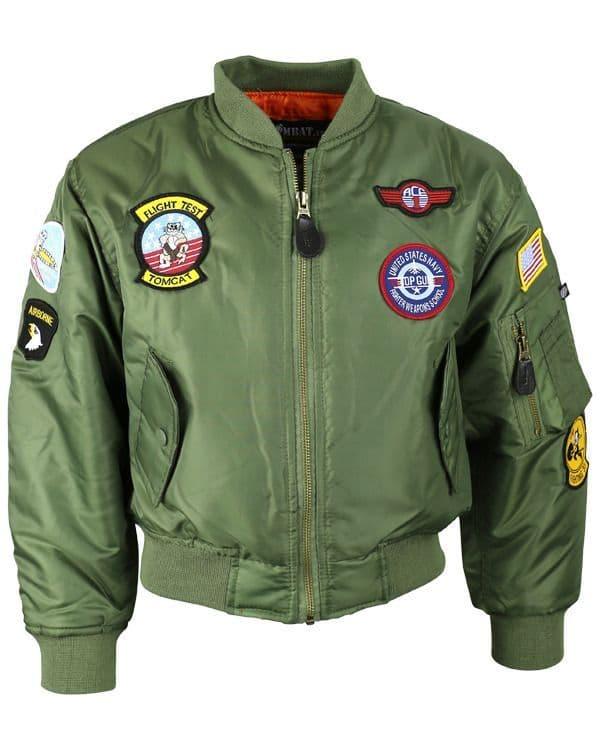 Kombat UK MA1  US Bomber Flight Jacket - Kids