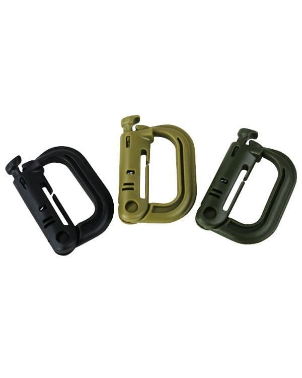 Kombat UK Rapid Locks ABS Carabiners - Olive Green