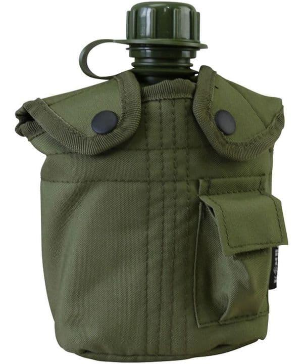 Kombat UK Water Bottle & Pouch - Olive Green
