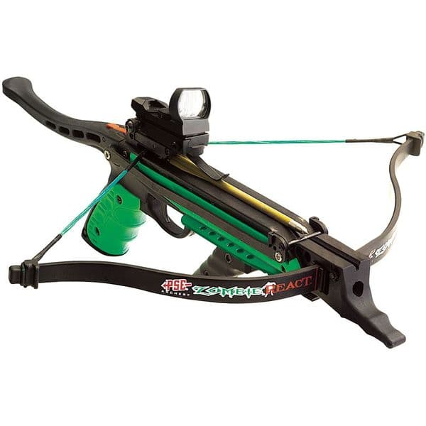 PSE Zombie React 50lb Pistol Crossbow With Red/Green Dot Sight