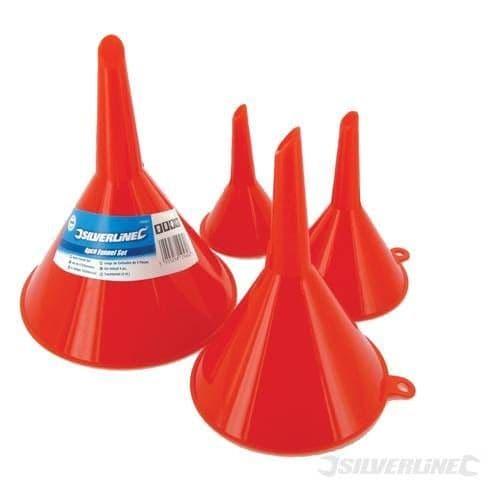 Silverline 4pc Funnel Set