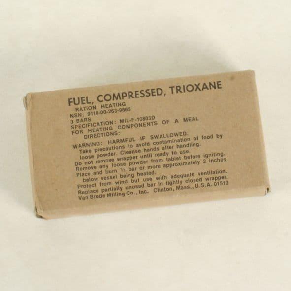 US Military issue Triozane fuel tablets x 3