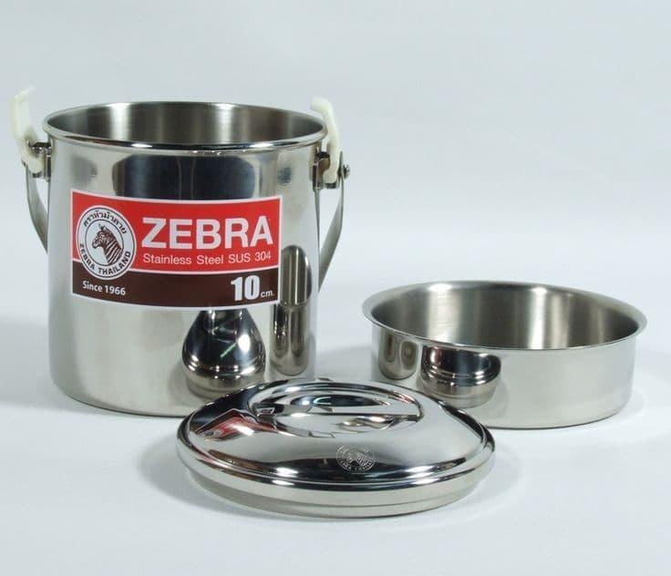 Zebra Head 10cm loop handle billy can cooking pot